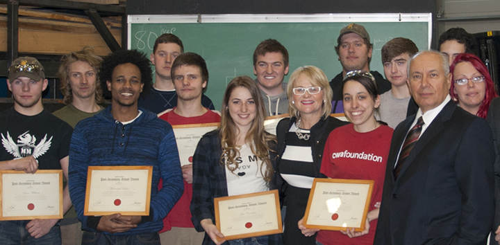 Western Quebec Career Centre welding students receive awards