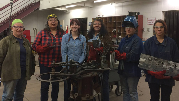 Girls test their metal in summer welding camp at Sask Polytech